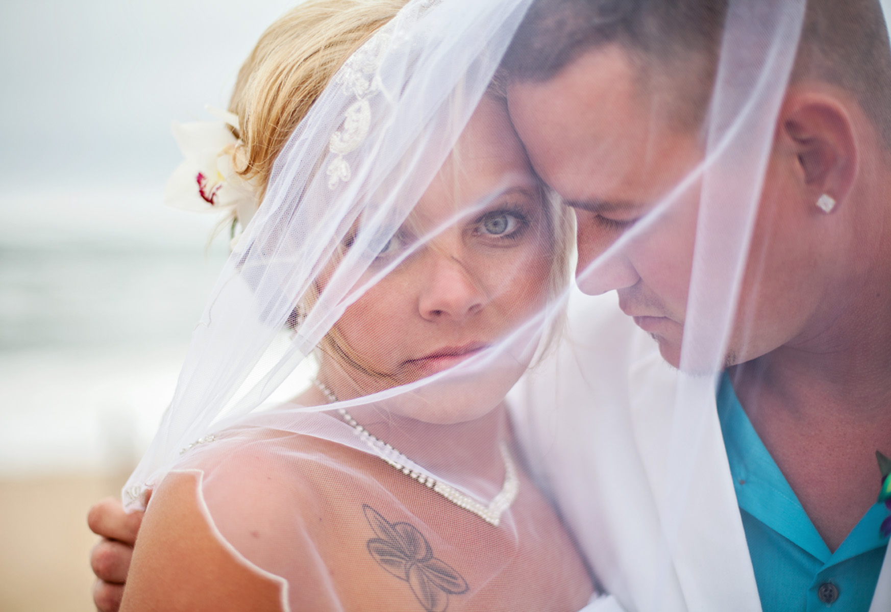 Outer Banks wedding photo couple on beach