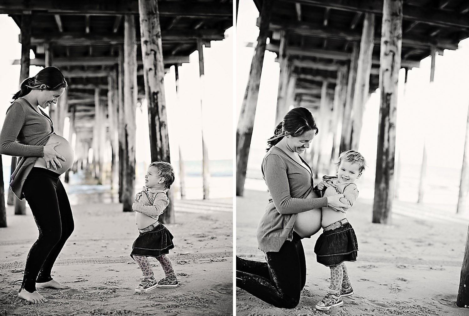 Maternity photo at Nags Head Pier
