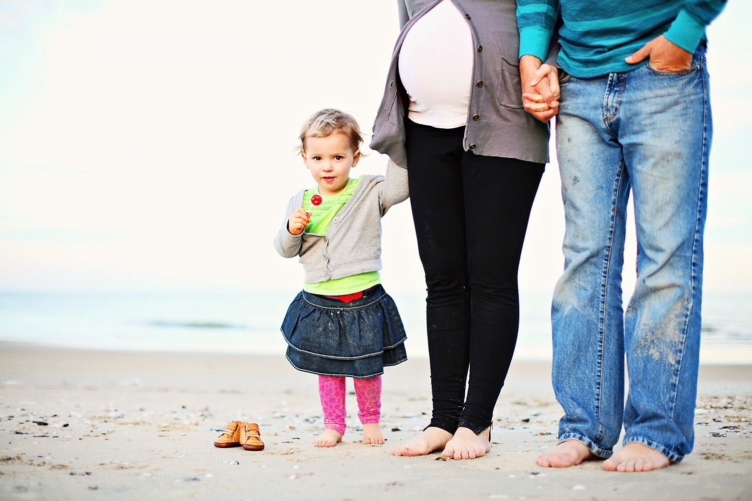 Outer Banks NC maternity family photo shoot