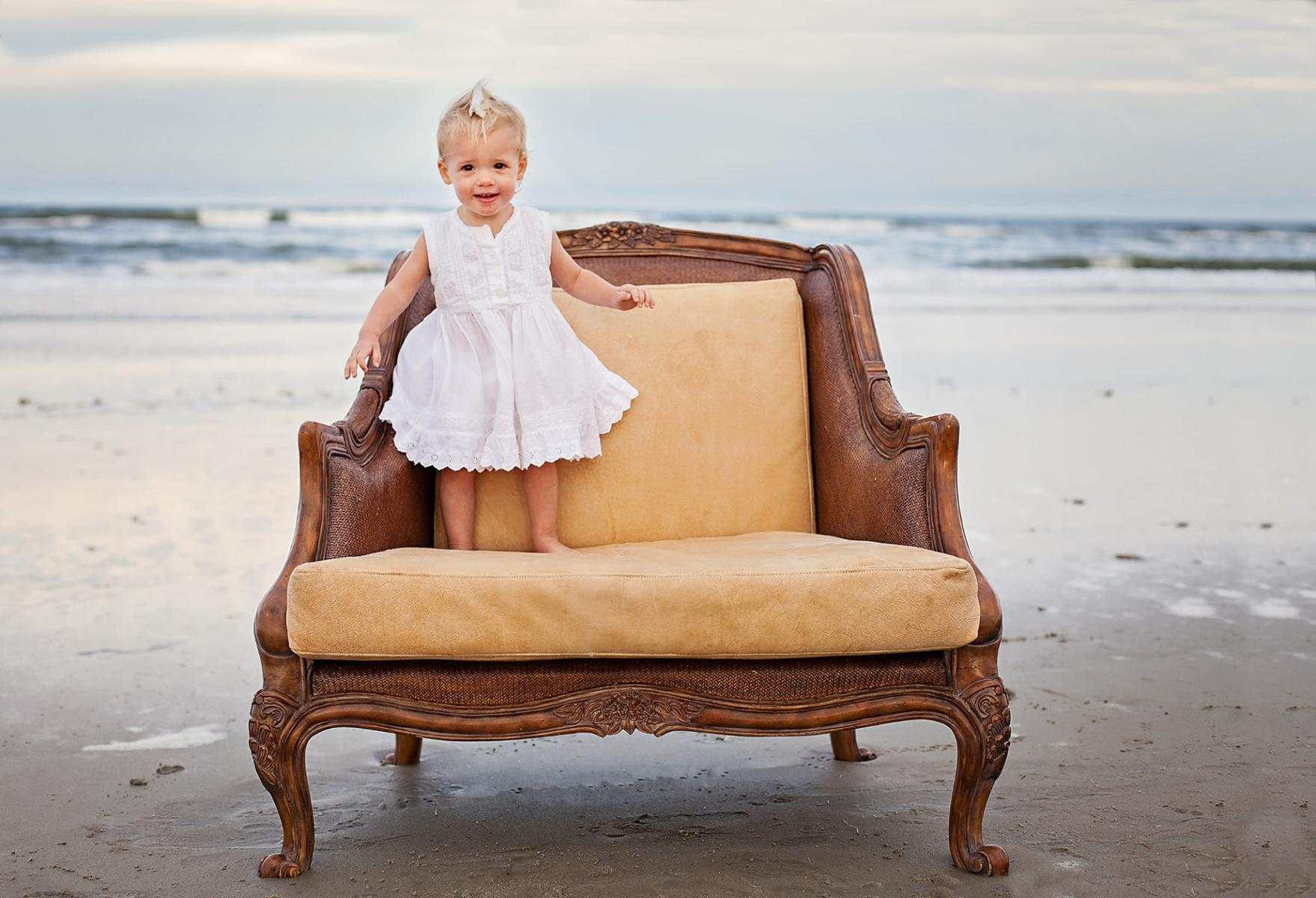 Little girl photography at beach in Corolla NC